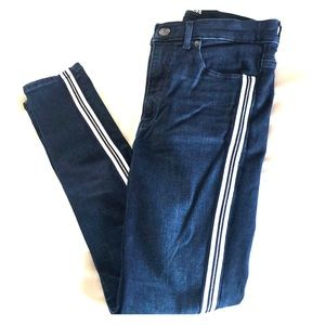 Express jeans with stripe on side